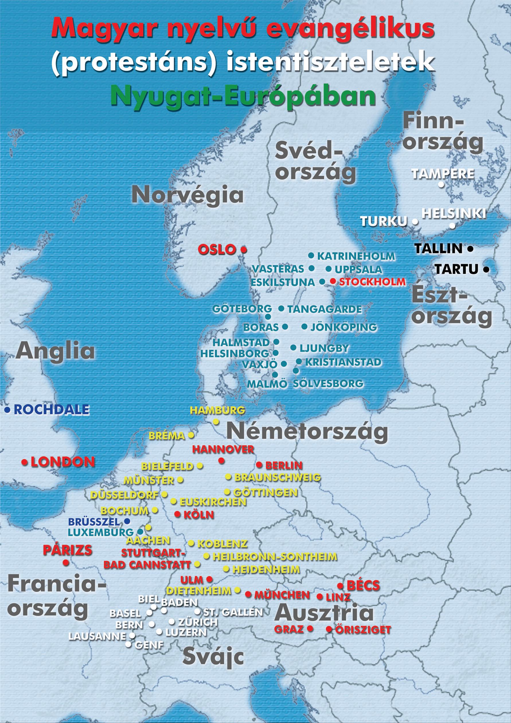 Nyugat-Európa-térkép